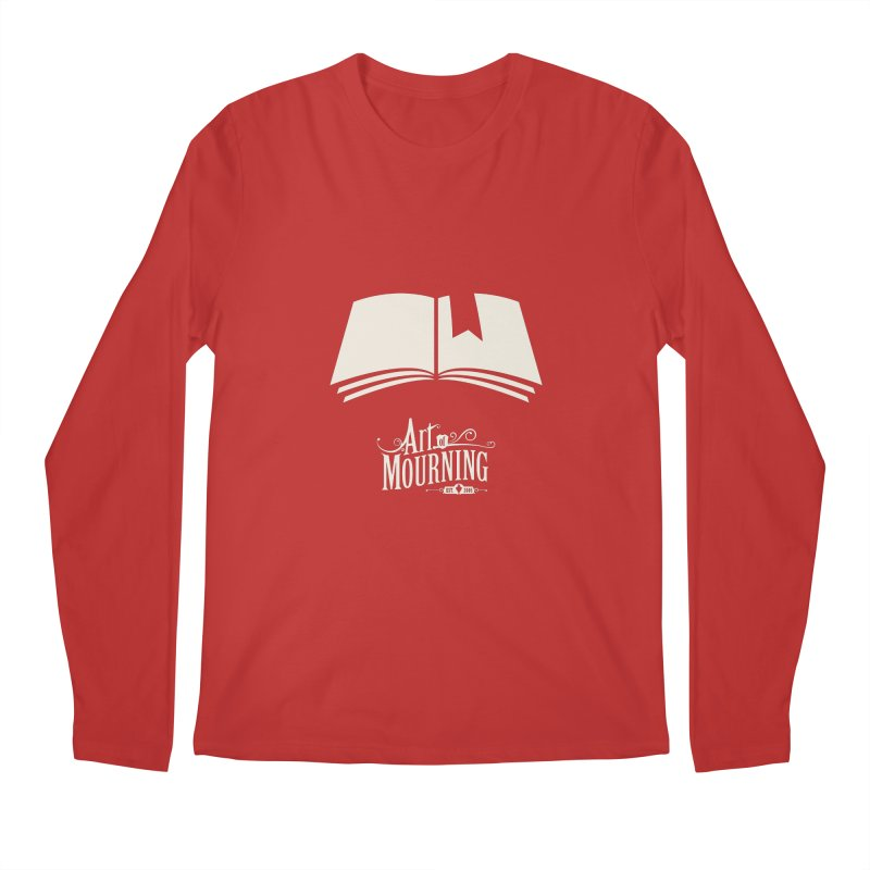 Art of Mourning 'Book' Reverse Men's Longsleeve T-Shirt by The Art of Mourning Shop
