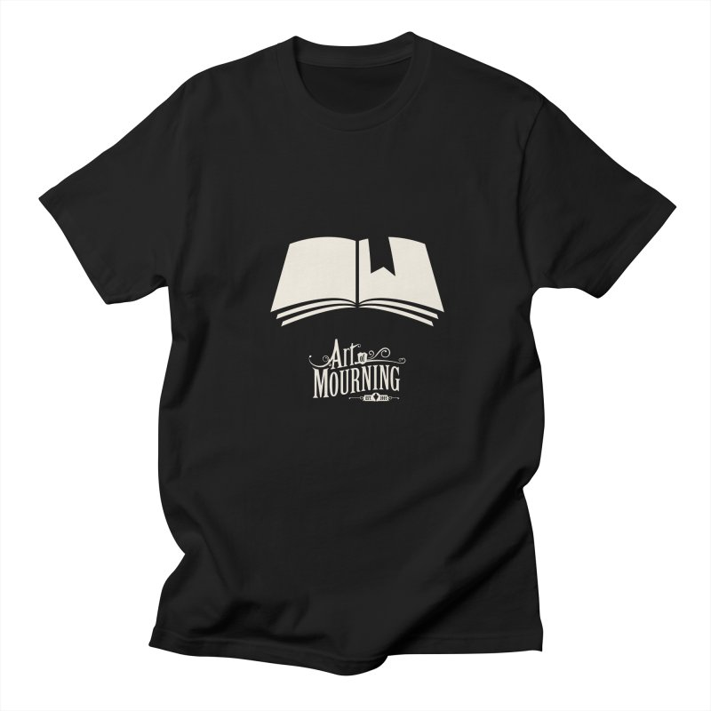 Art of Mourning 'Book' Reverse Men's T-Shirt by The Art of Mourning Shop