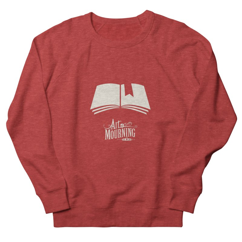 Art of Mourning 'Book' Reverse Men's French Terry Sweatshirt by The Art of Mourning Shop
