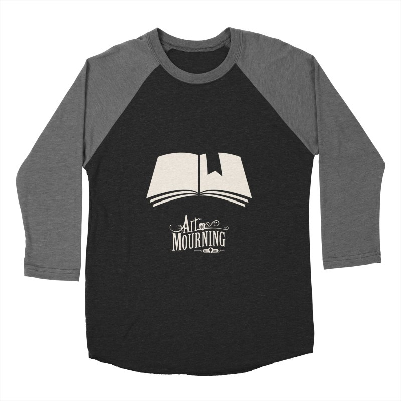 Art of Mourning 'Book' Reverse Men's Baseball Triblend T-Shirt by The Art of Mourning Shop