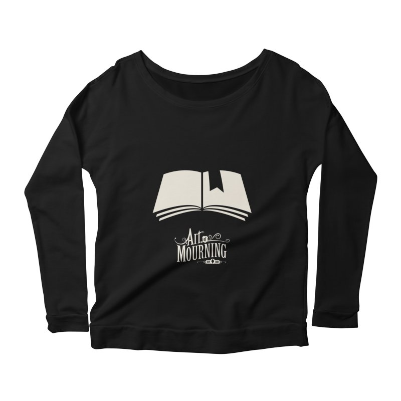 Art of Mourning 'Book' Reverse Women's Longsleeve Scoopneck  by The Art of Mourning Shop