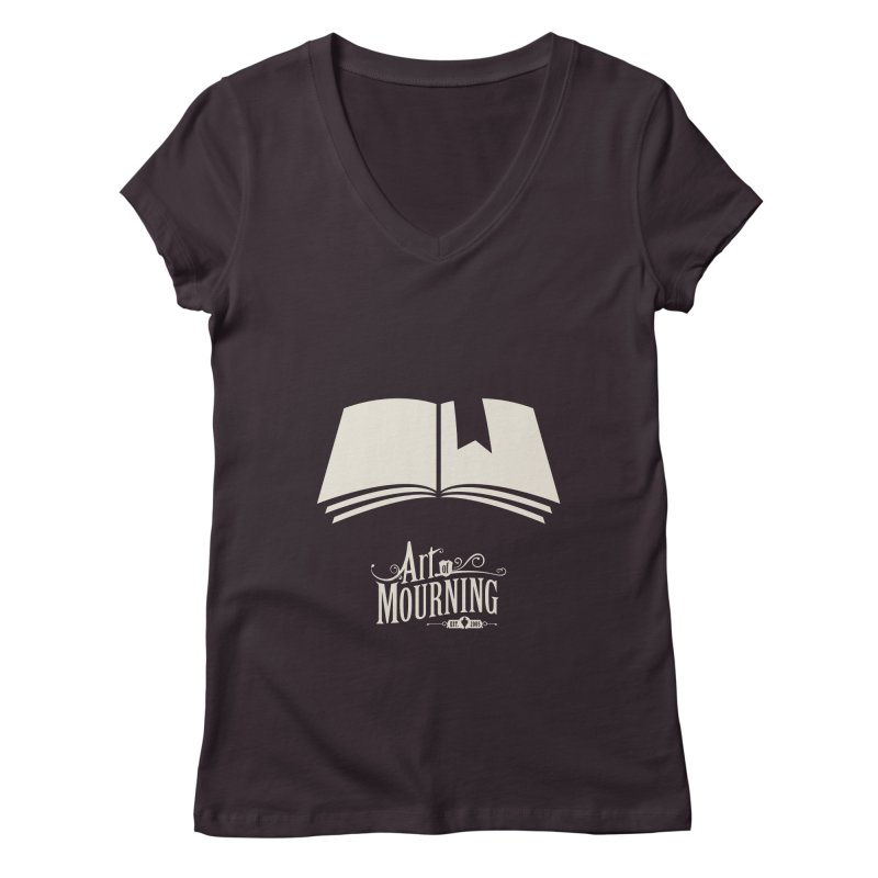 Art of Mourning 'Book' Reverse Women's Regular V-Neck by The Art of Mourning Shop