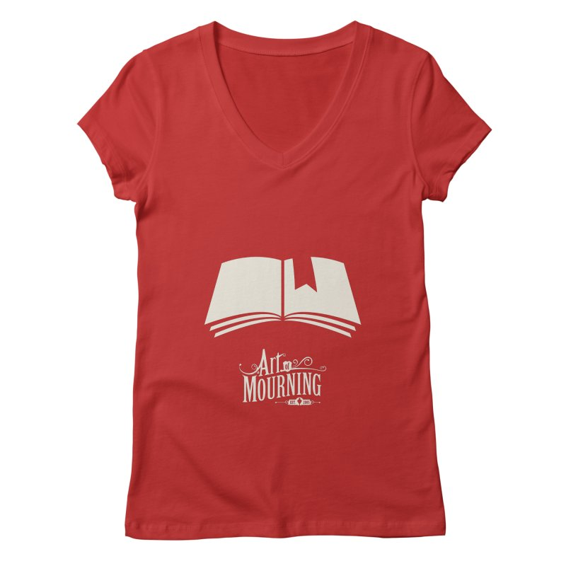 Art of Mourning 'Book' Reverse Women's V-Neck by The Art of Mourning Shop