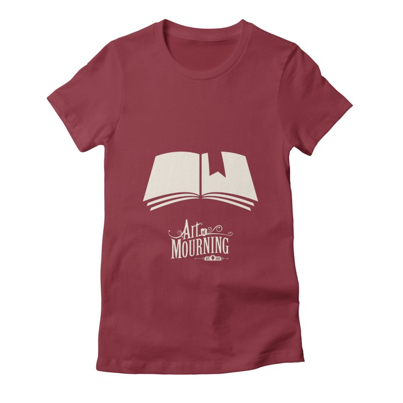 Art of Mourning 'Book' Reverse Women's Fitted T-Shirt by The Art of Mourning Shop