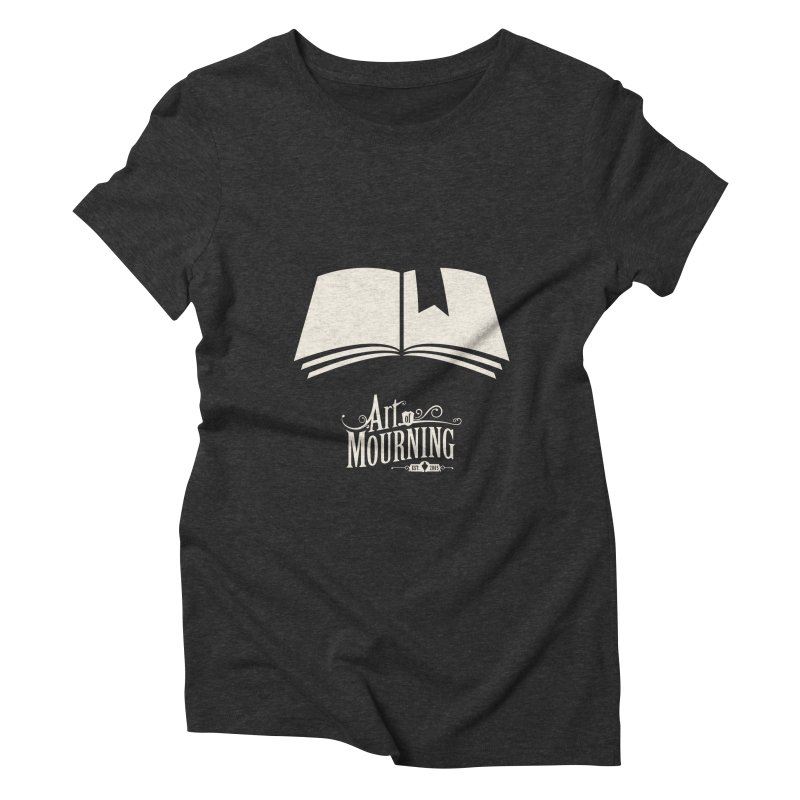 Art of Mourning 'Book' Reverse Women's Triblend T-Shirt by The Art of Mourning Shop