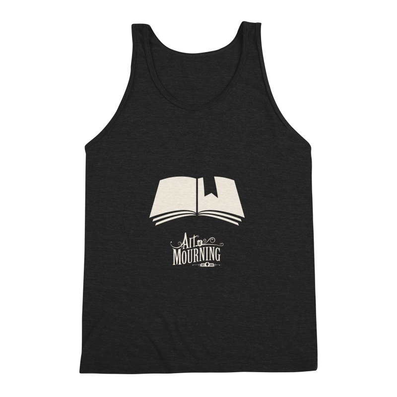 Art of Mourning 'Book' Reverse Men's Triblend Tank by The Art of Mourning Shop