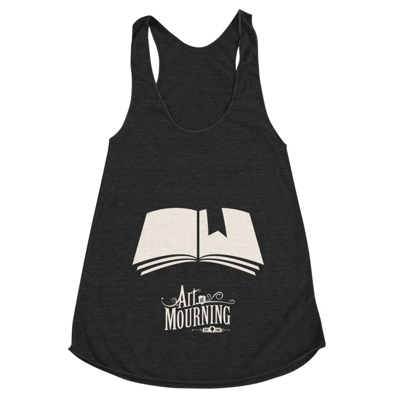 Art of Mourning 'Book' Reverse Women's Racerback Triblend Tank by The Art of Mourning Shop