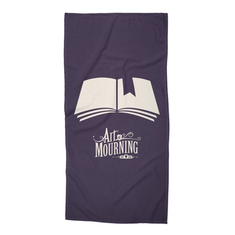 Art of Mourning 'Book' Reverse Accessories Beach Towel by Art of Mourning Warehouse