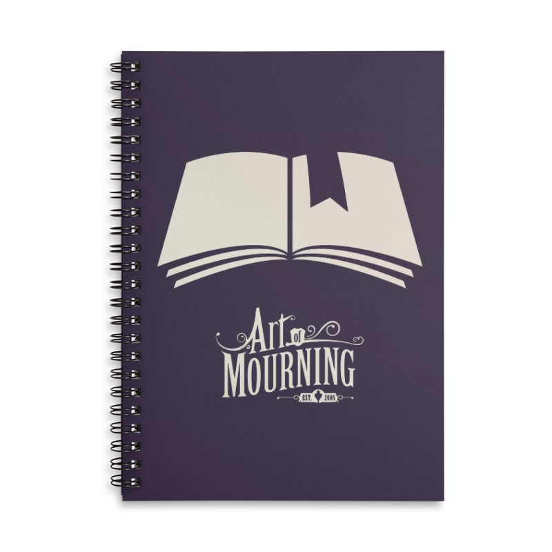 Art of Mourning 'Book' Reverse Accessories Notebook by Art of Mourning Warehouse