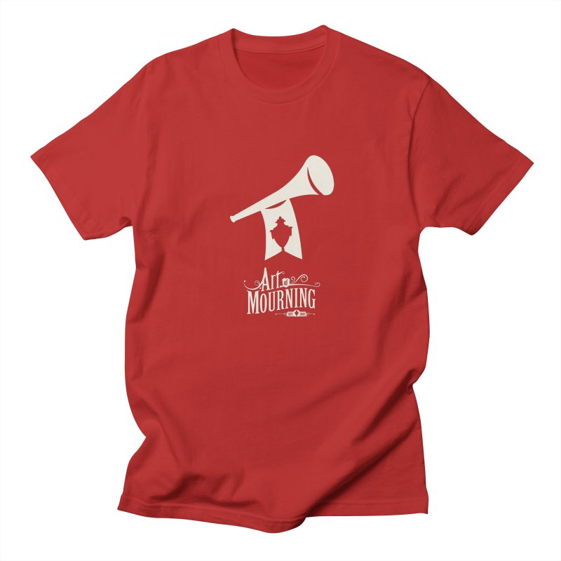 Art of Mourning 'Announcement' Reverse in Men's T-shirt Red by The Art of Mourning Shop