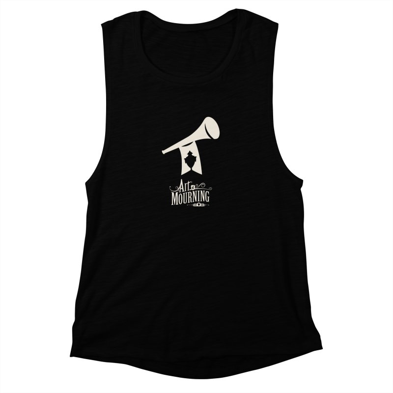 Art of Mourning 'Announcement' Reverse Women's Muscle Tank by The Art of Mourning Shop