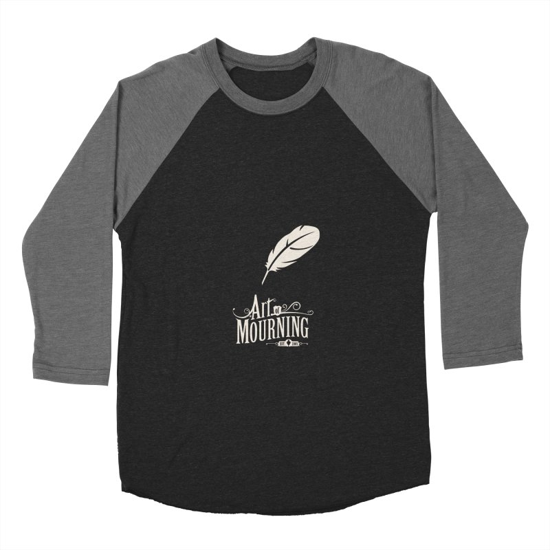 Art of Mourning 'Quill' Reverse Men's Baseball Triblend T-Shirt by The Art of Mourning Shop