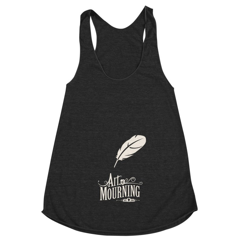 Art of Mourning 'Quill' Reverse Women's Racerback Triblend Tank by The Art of Mourning Shop