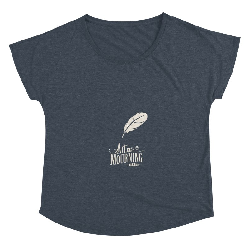 Art of Mourning 'Quill' Reverse Women's Scoop Neck by The Art of Mourning Shop
