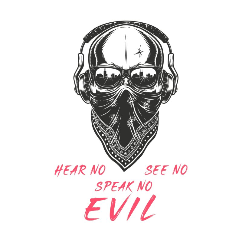 HearNo,SpeakNo,SeeNo Evil Skull by Art of our Minds