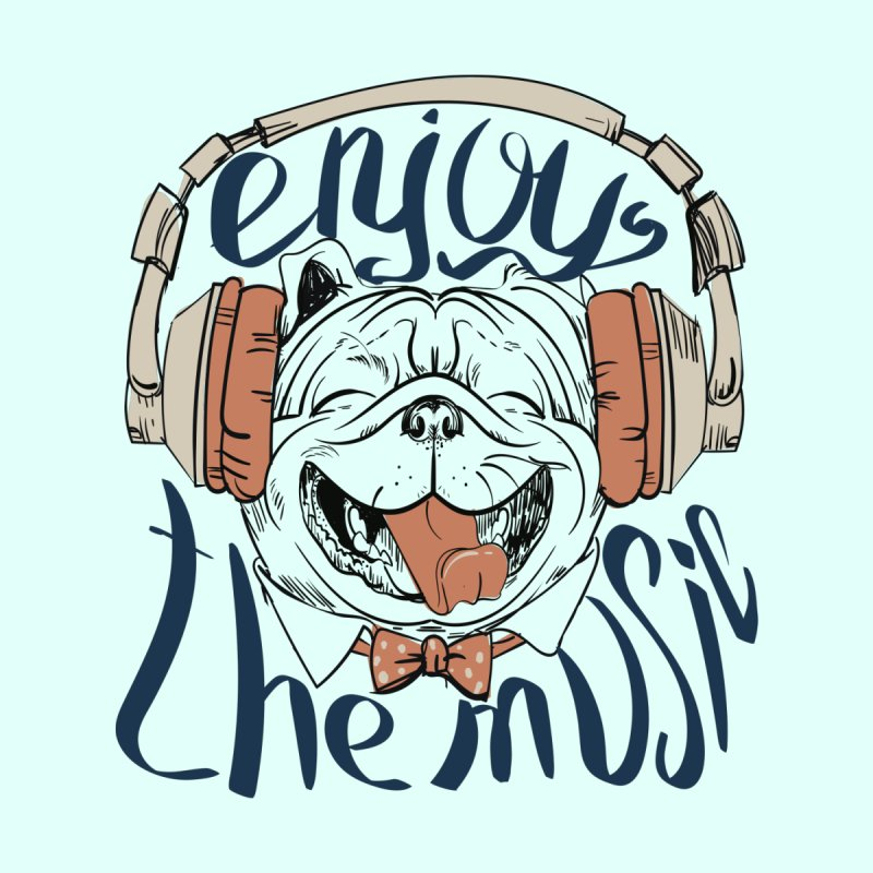Enjoy the Music Dog by Art of our Minds
