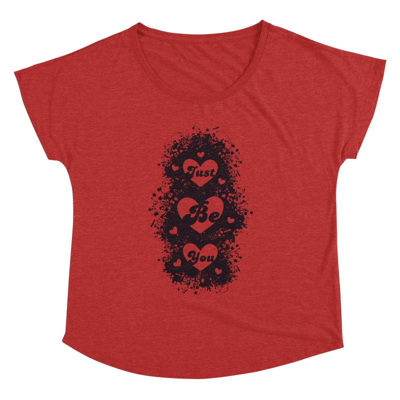 JUST BE YOU - Black Hearts Women's Dolman by Art Of Royalty
