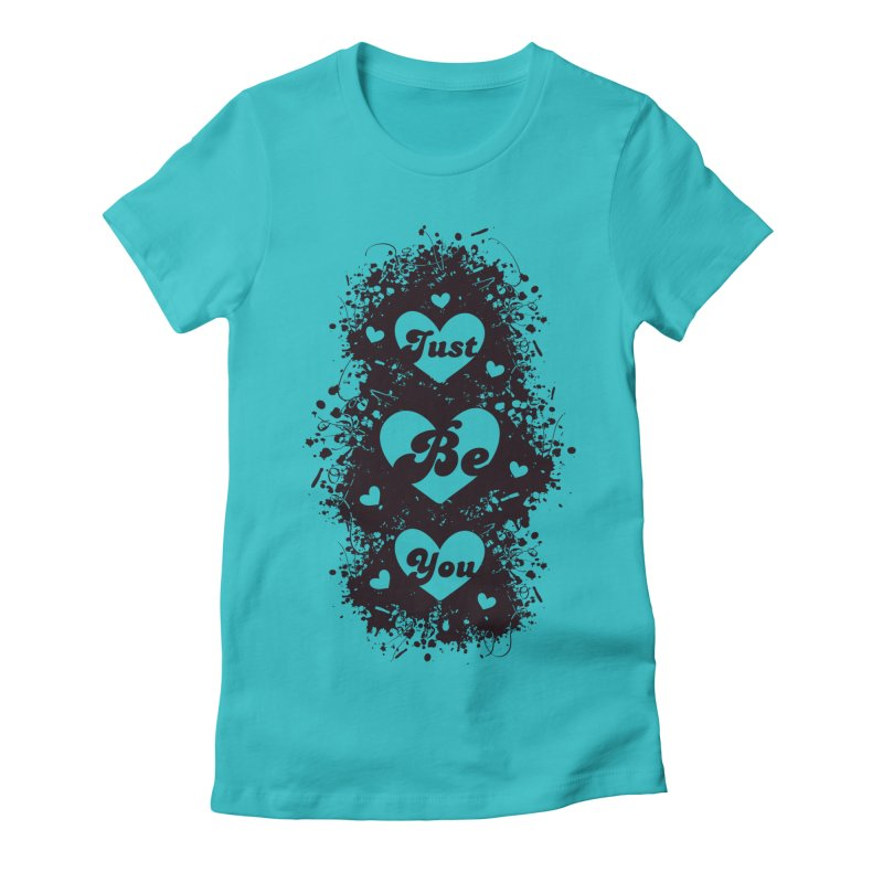 JUST BE YOU - Black Hearts Women's Fitted T-Shirt by Art Of Royalty