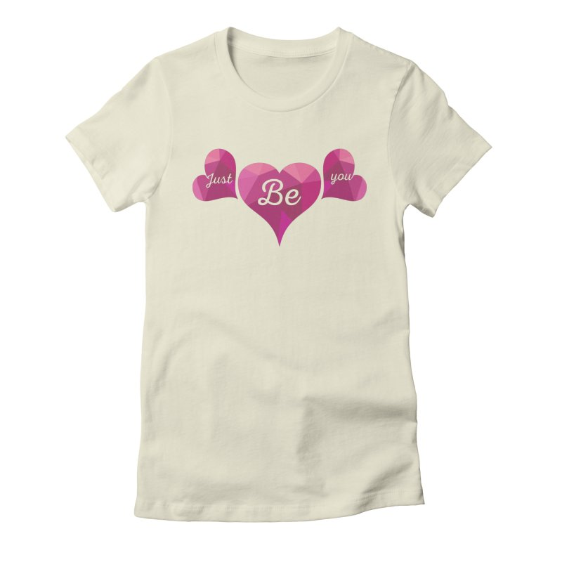 JUST BE YOU - Origami Hearts Women's Fitted T-Shirt by Art Of Royalty