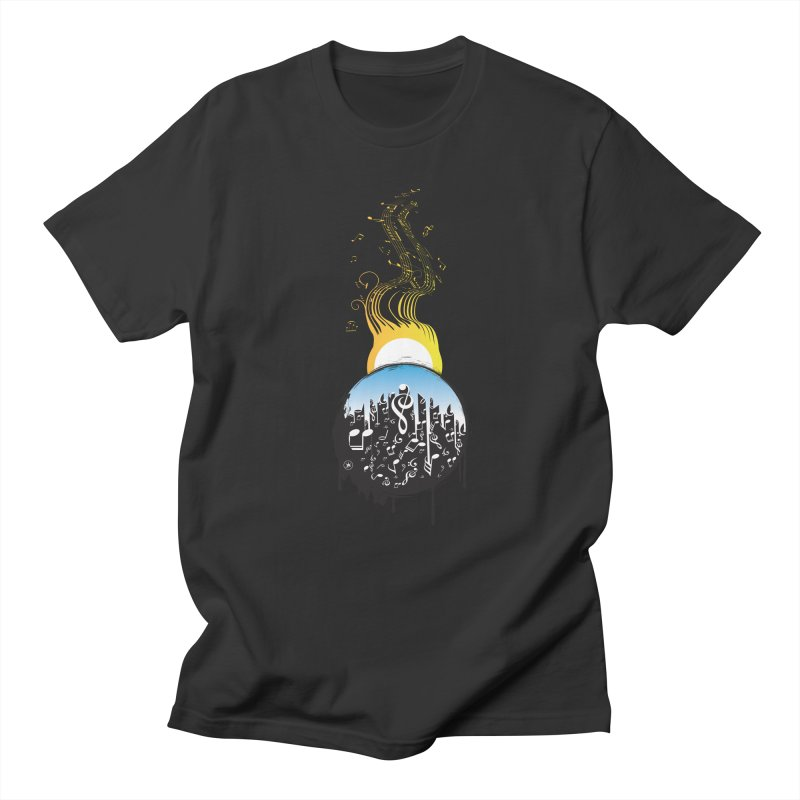 SUNSET MUSIC Men's Regular T-Shirt by Art Of Royalty