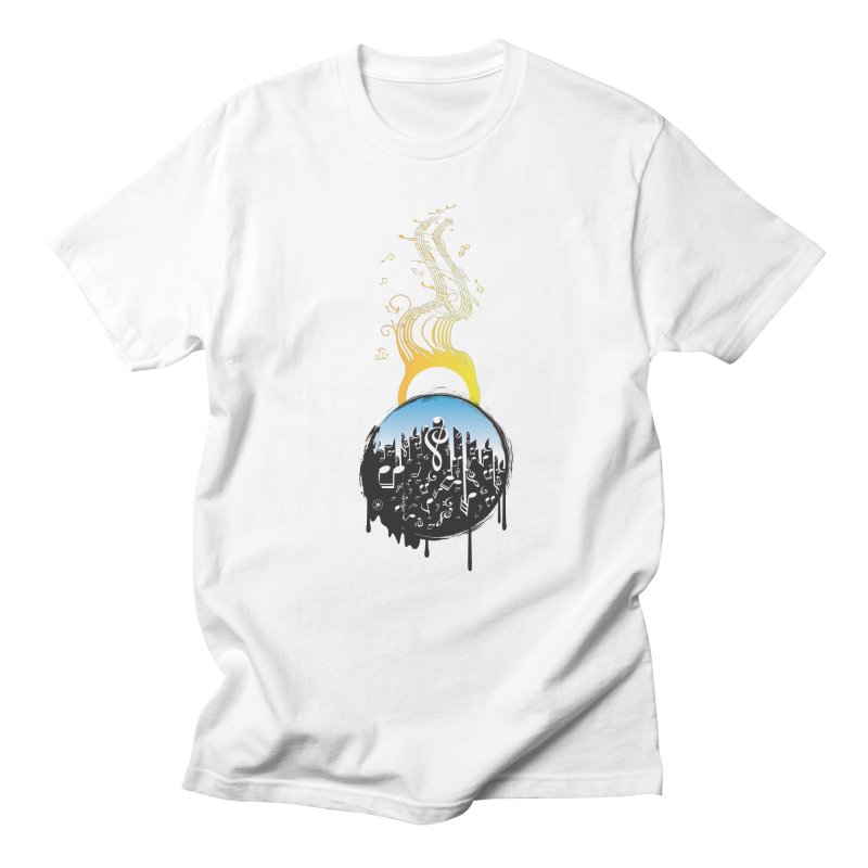 SUNSET MUSIC Men's T-shirt by Art Of Royalty