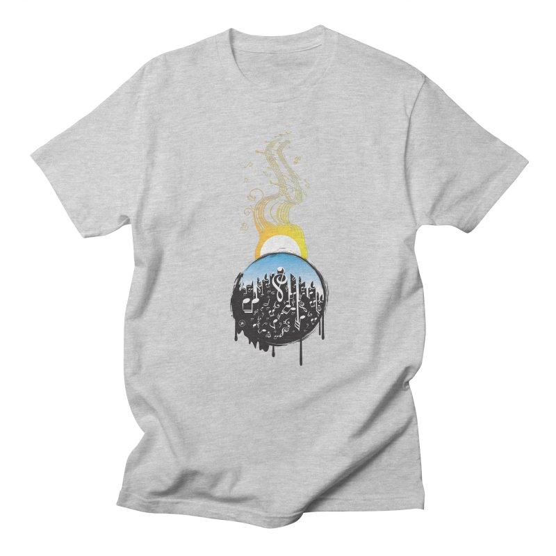 SUNSET MUSIC Men's T-shirt by Art Of Royalty
