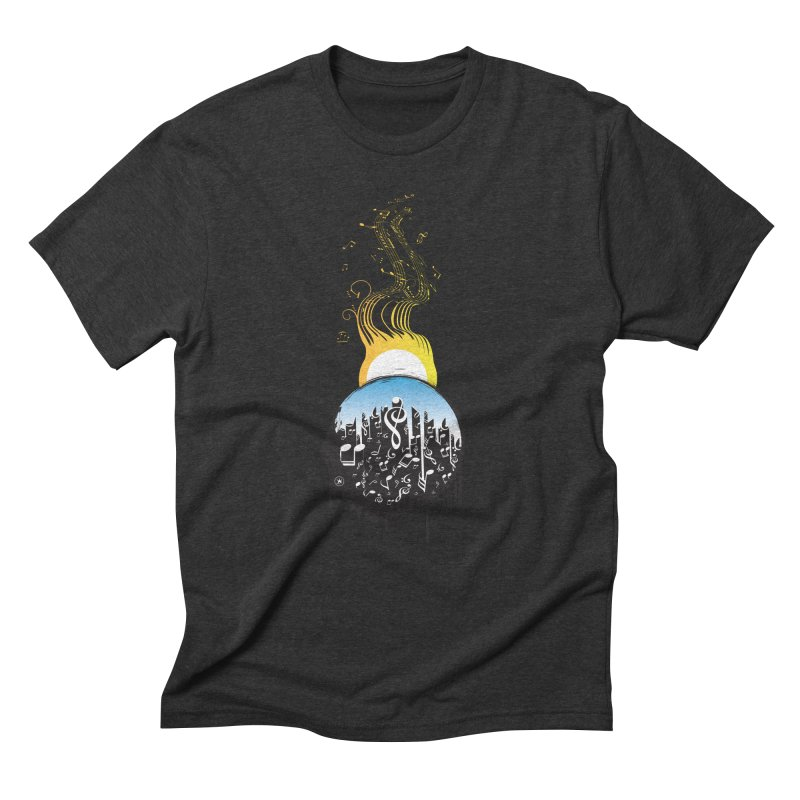 SUNSET MUSIC Men's Triblend T-Shirt by Art Of Royalty