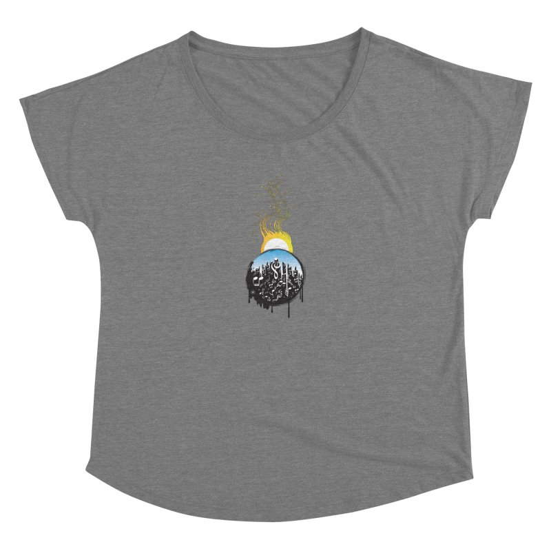SUNSET MUSIC Women's Scoop Neck by Art Of Royalty