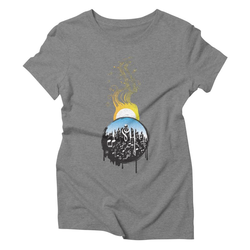 SUNSET MUSIC Women's Triblend T-Shirt by Art Of Royalty