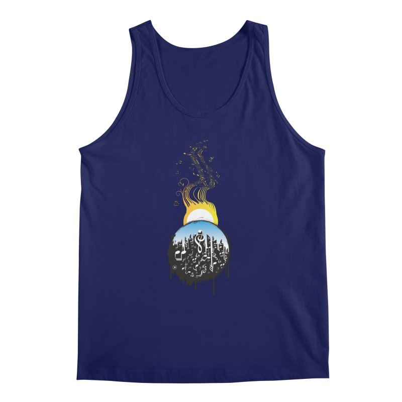 SUNSET MUSIC Men's Tank by Art Of Royalty