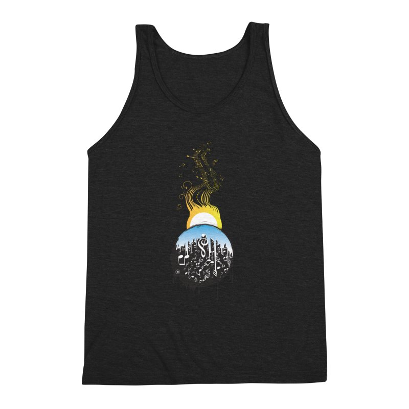 SUNSET MUSIC Men's Triblend Tank by Art Of Royalty