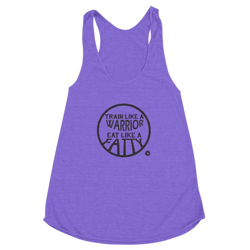 TRAINED 2 EAT  Women's Racerback Triblend Tank by Art Of Royalty