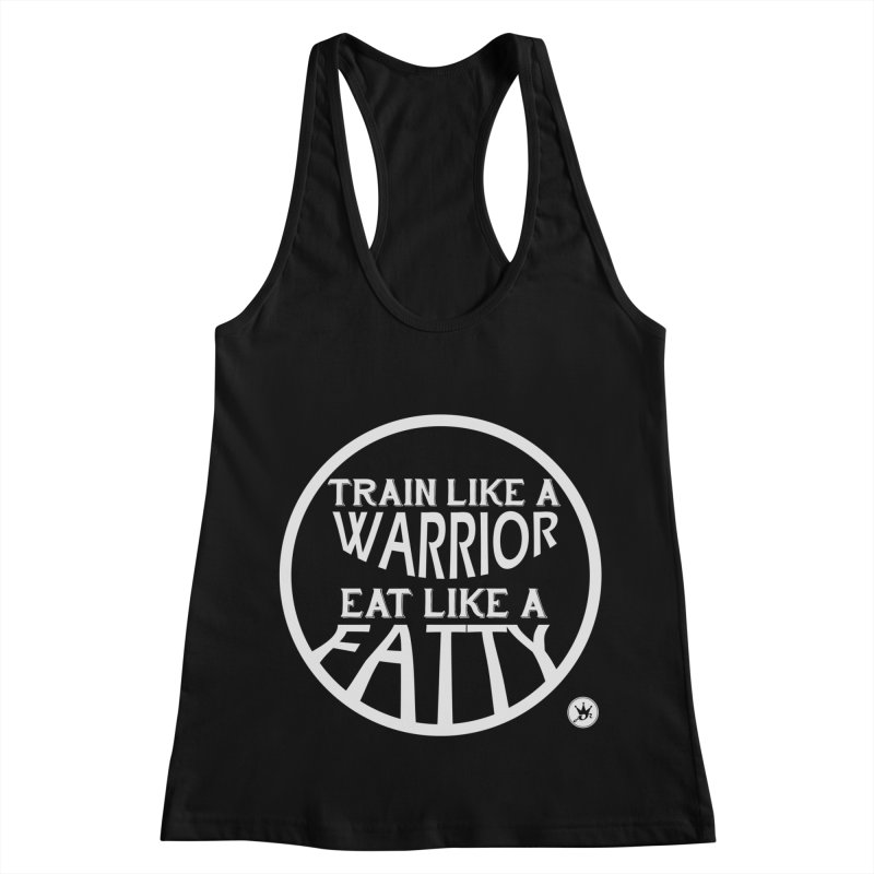 TRAINED TO EAT V3 Women's Racerback Tank by Art Of Royalty