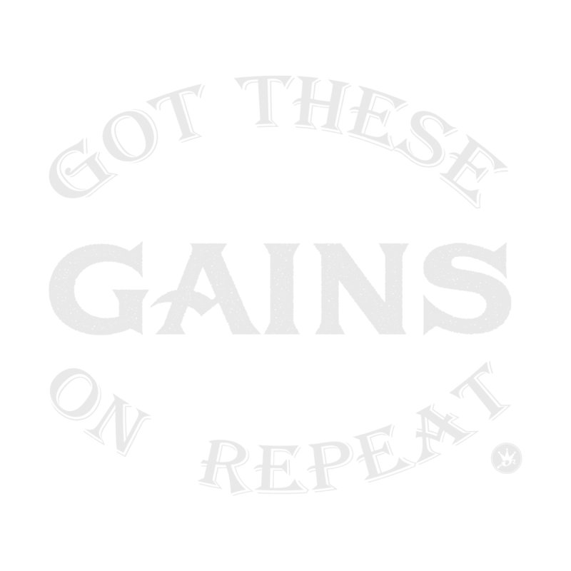 GAINS ON REPEAT V2 Women's Racerback Triblend Tank by Art Of Royalty