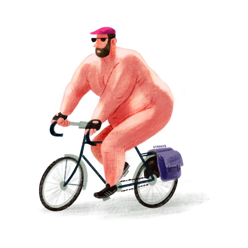 Naked Bike Ride Day by sturges artist shop
