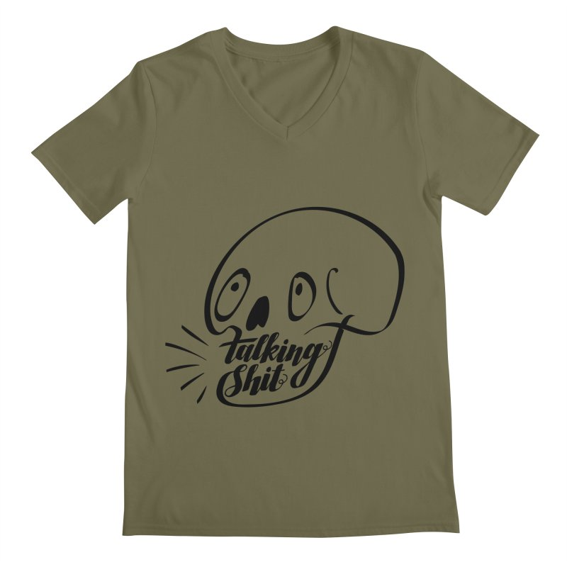 Talking Shit Men's V-Neck by sturges artist shop