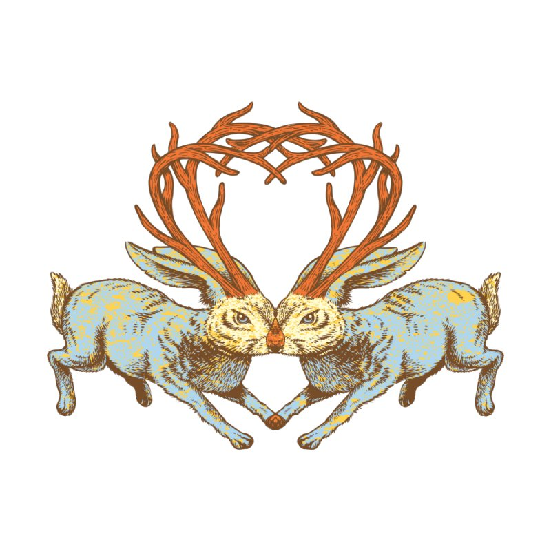 Jackalope love by sturges artist shop