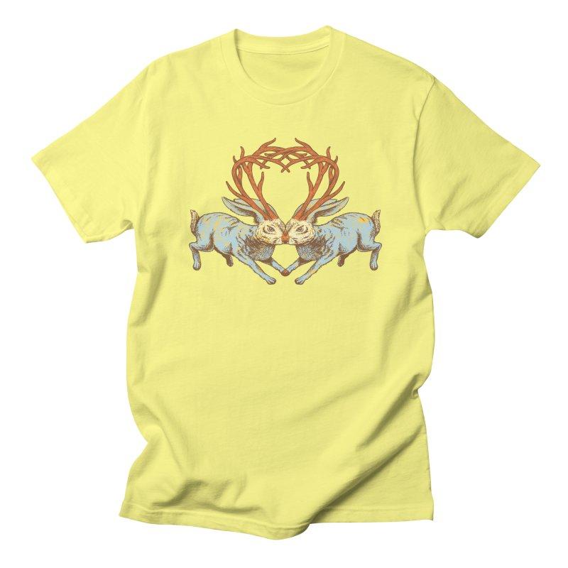 Jackalope love Men's T-Shirt by sturges artist shop