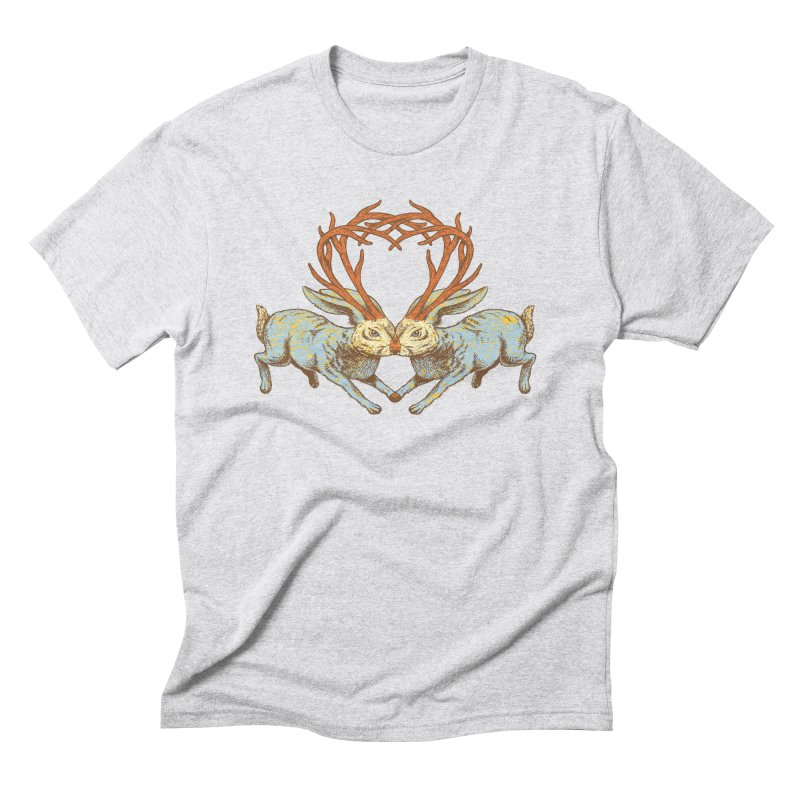 Jackalope love Men's Triblend T-Shirt by sturges artist shop
