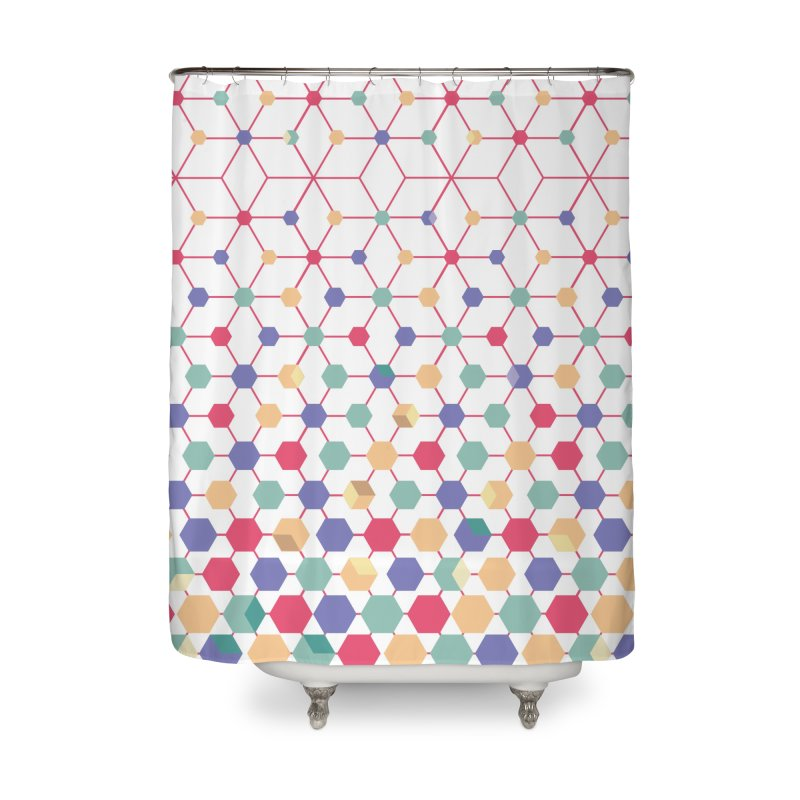 FruityCube Home Shower Curtain by sturges artist shop