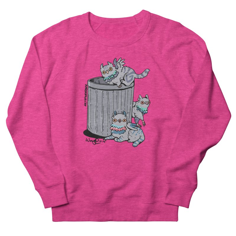 Trash Gryphons Women's French Terry Sweatshirt by Art of Wendy Xu's Artist Shop