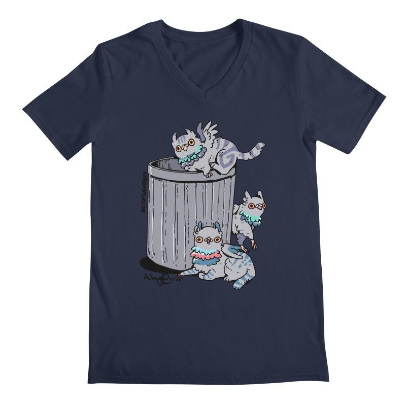 Trash Gryphons Men's Regular V-Neck by Art of Wendy Xu's Artist Shop