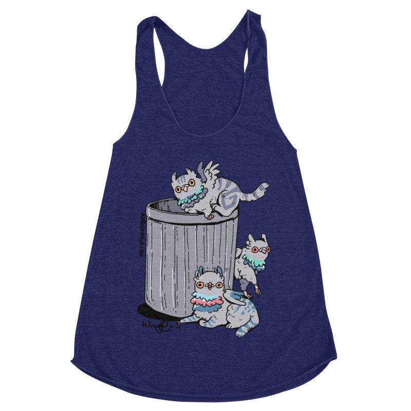 Trash Gryphons Women's Racerback Triblend Tank by Art of Wendy Xu's Artist Shop