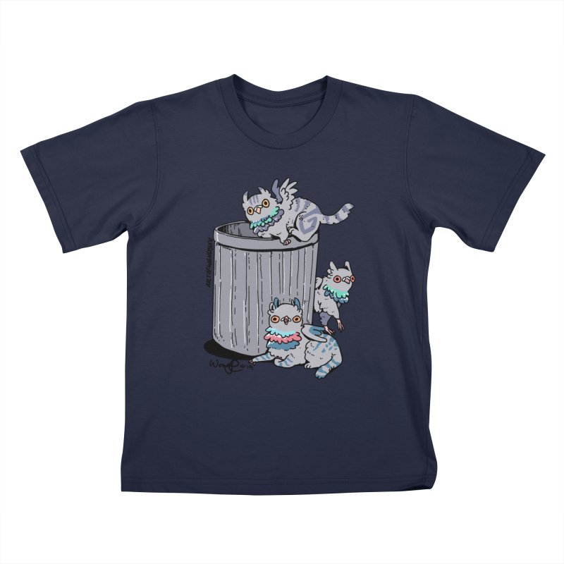 Trash Gryphons Kids T-Shirt by Art of Wendy Xu's Artist Shop