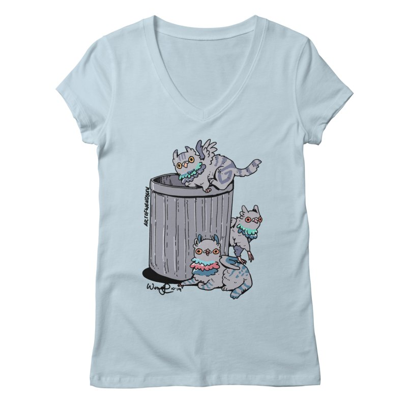 Trash Gryphons Women's Regular V-Neck by Art of Wendy Xu's Artist Shop
