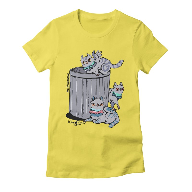 Trash Gryphons Women's Fitted T-Shirt by Art of Wendy Xu's Artist Shop