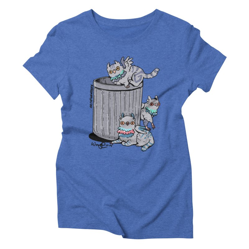 Trash Gryphons Women's Triblend T-Shirt by Art of Wendy Xu's Artist Shop