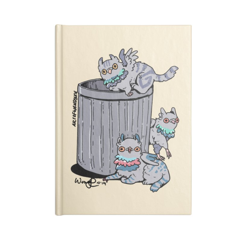 Trash Gryphons Accessories Lined Journal Notebook by Art of Wendy Xu's Artist Shop