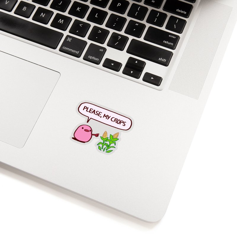 Please, My Crops Accessories Sticker by Art of Wendy Xu's Artist Shop
