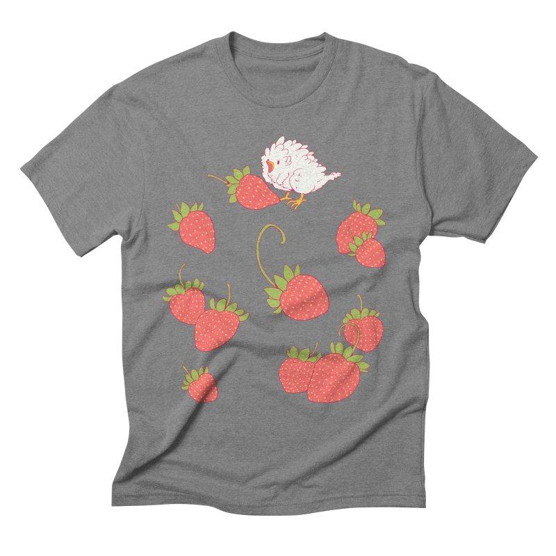 strawbirb (tianyulong confusci) Men's T-Shirt by Art of Wendy Xu's Artist Shop